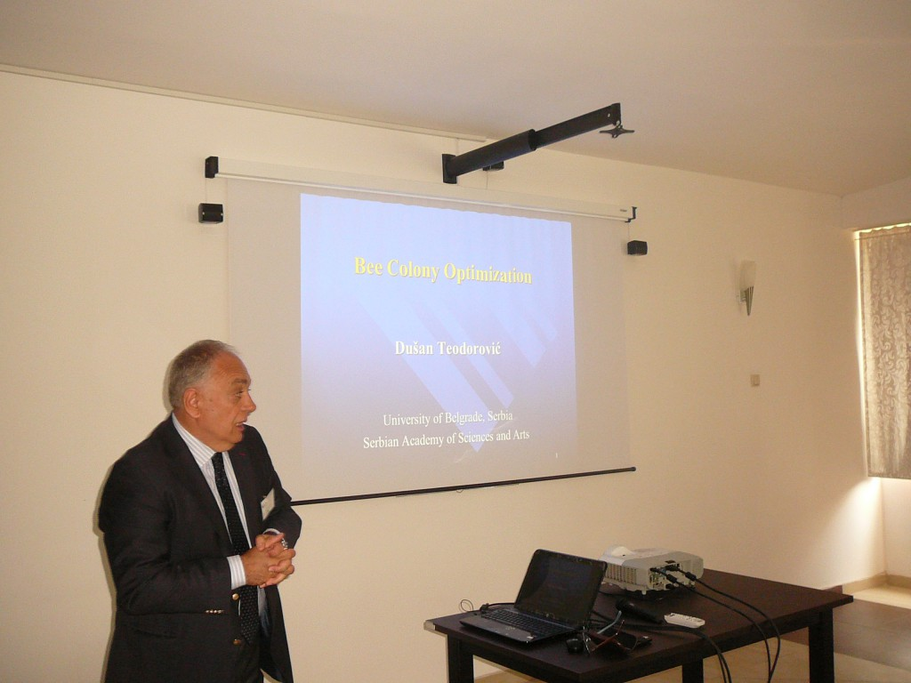 Plenary lecture held by Professor Dr Dušan Teodorović