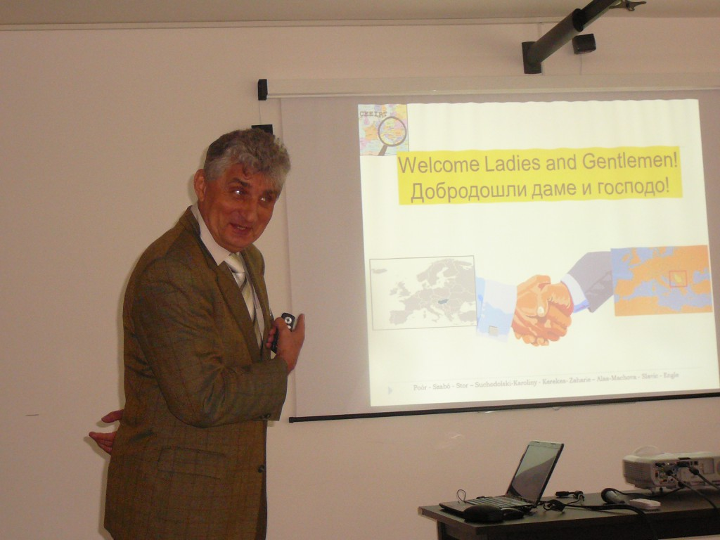 Plenary lecture held by Professor Dr Jozef Poor